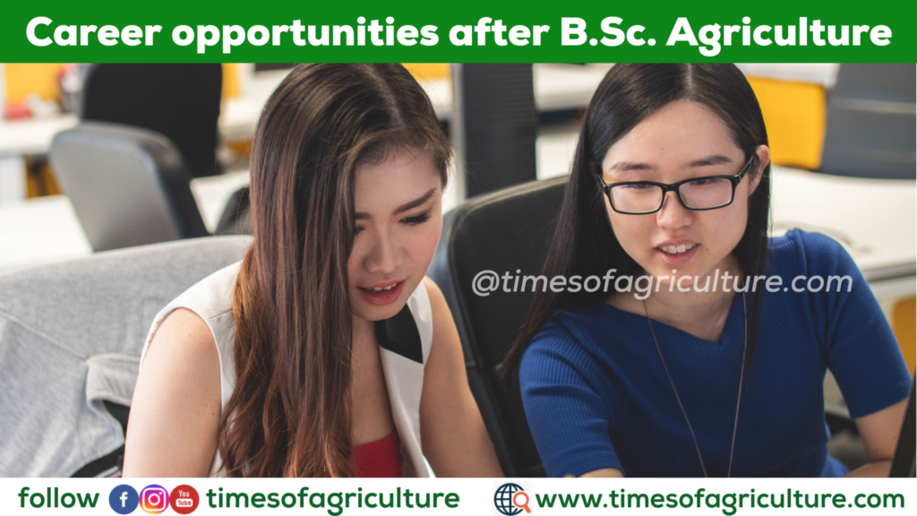 Government Jobs after B.Sc. Agriculture
