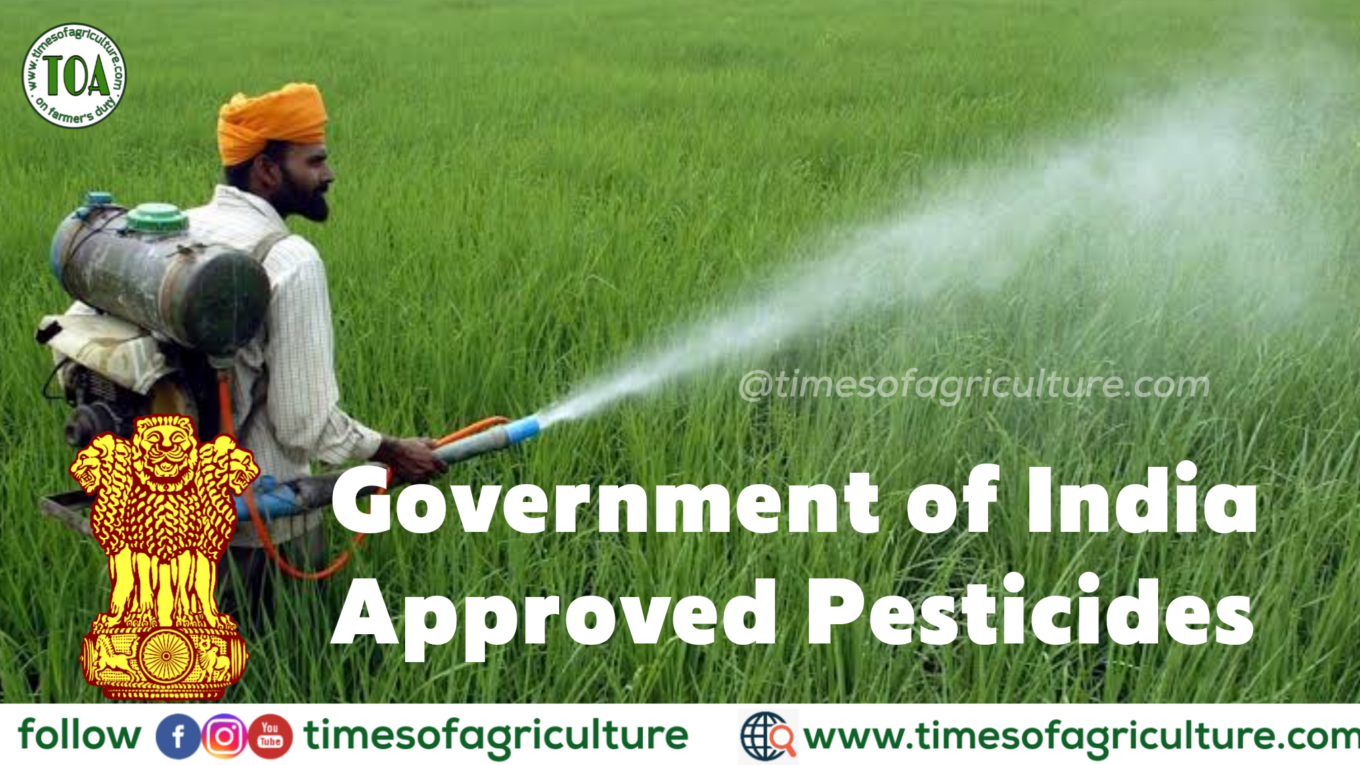 Government of India approved Pesticides list