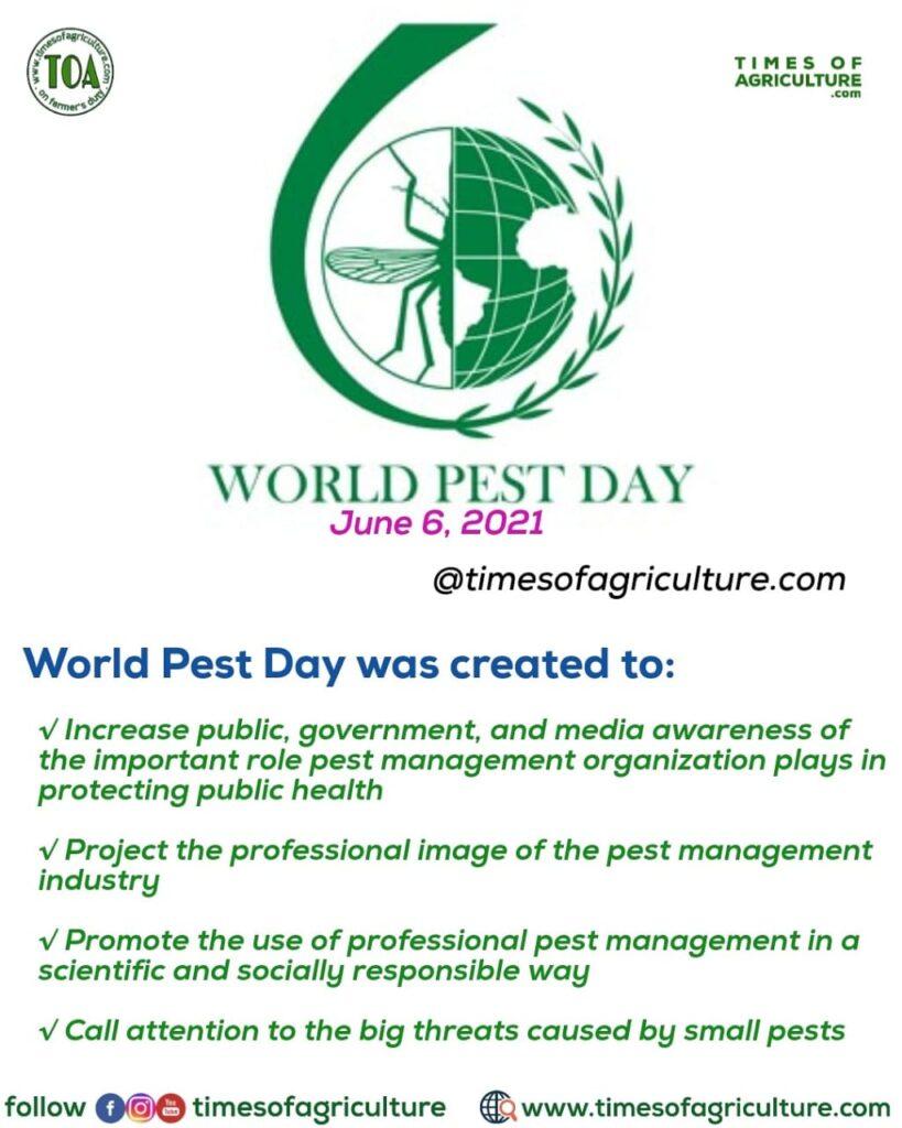 WORLD PEST DAY JUNNE 6 2021